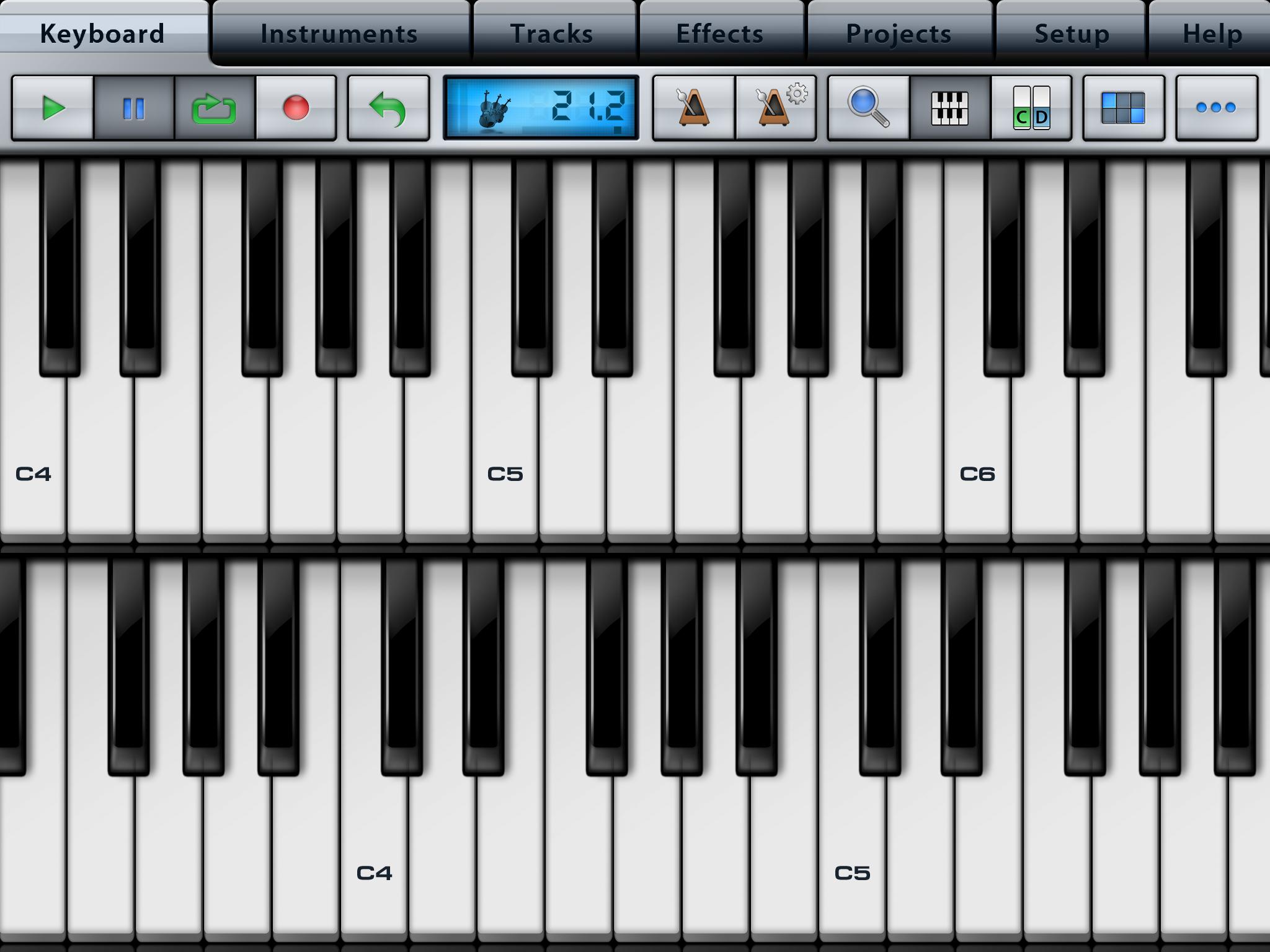 iPad miniならキーボードを2段にしても充分な大きさ