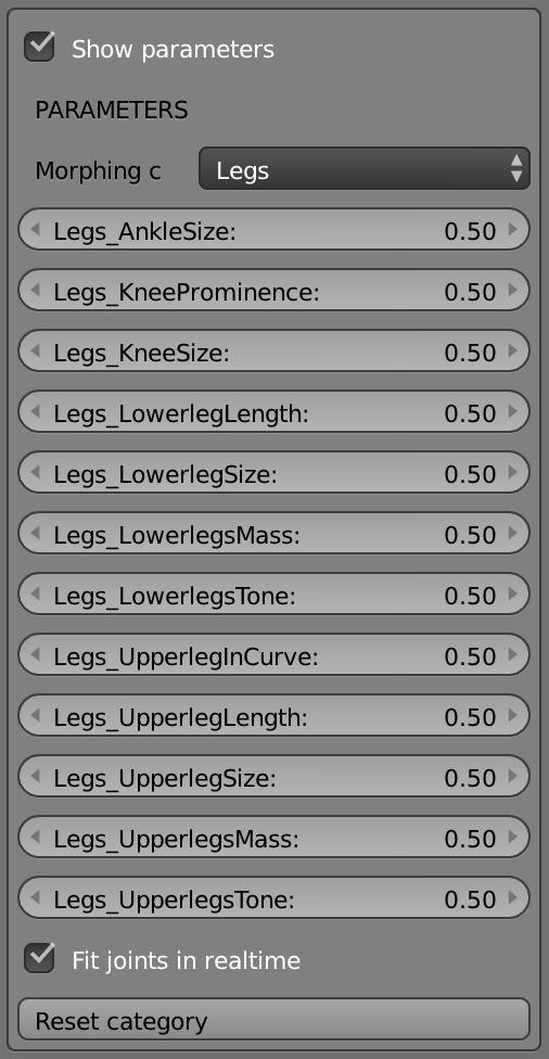 脚のあらゆるパーツを数値制御