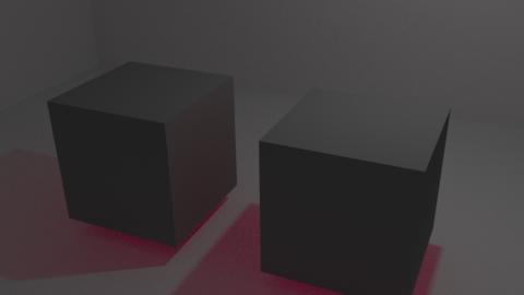 Ray DepthをFactorに接続すると、影だけではなくて周囲にも色の影響が出る。より自然な感じがする?