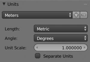 プリセットからMeterを選ぶと、Length(=長さ)がメートル法にセットされます