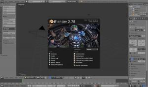 これがBlender(Ver.2.78)の起動画面。