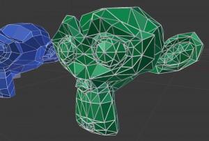 すべてのポリゴンが三角形に分割されています。これは、どのCGソフトにも持っていけるニュートラルなデータです。
