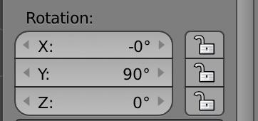 Arrayの軸は、オブジェクト優先です。Y軸に沿って90度回転させたので、見掛けのZ軸方向は、オブジェクト(背貫)にとってはX方向なのです
