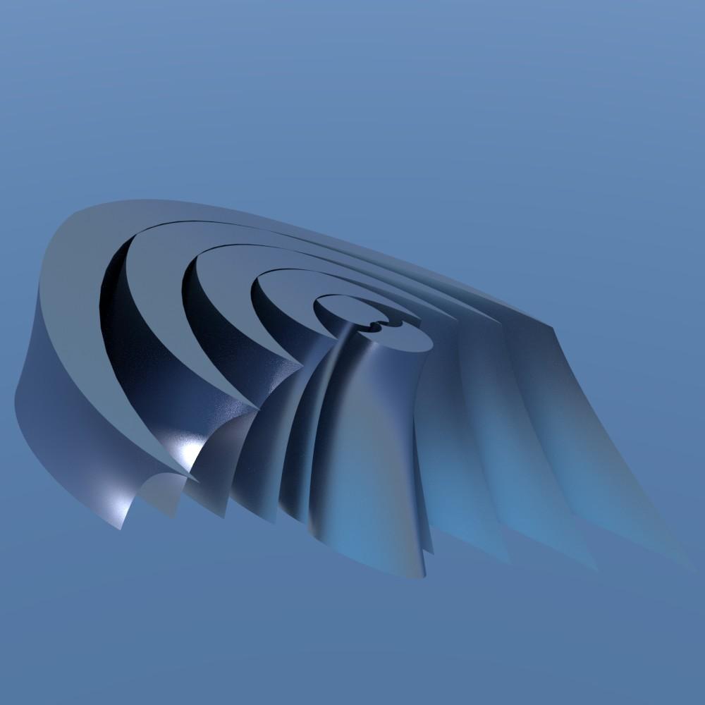 連続して変化する幾何学形状を作っても面白いですね。