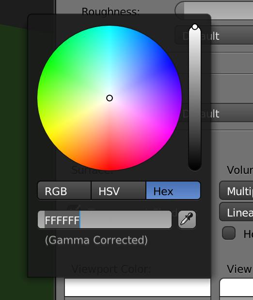こうやって、色の表示をHexにすれば値が6文字になります。これならコピペも簡単です