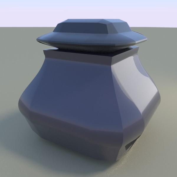 インク壺のような何か(オブジェクトは2つ使っています)