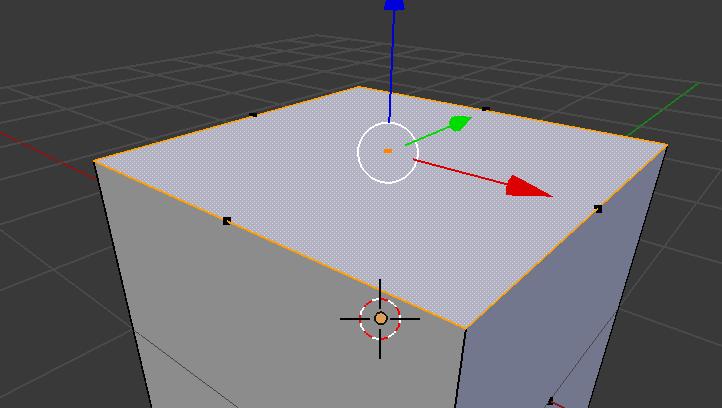 こんなふうに、エッジ上に「面の中心を示す点」がある場合は面が重なっています。