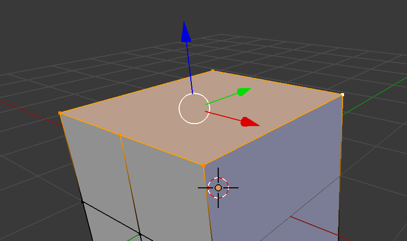 頂点編集モードに切り替えるとよく分かります。残された面は、頂点を5つ持つ五角形になっていますが、これは許容するという仕様。